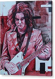 Acrylic Print featuring the drawing Jack White by Joshua Morton