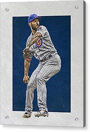 Jake Arrieta Chicago Cubs Art Acrylic Print by Joe Hamilton