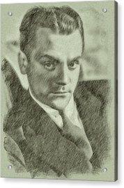 James Cagney By John Springfield Acrylic Print by John Springfield