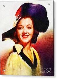 Janet Gaynor, Vintage Hollywood Actress Acrylic Print