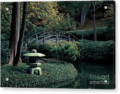 Acrylic Print featuring the photograph Japanese Garden In Summer by Iris Greenwell
