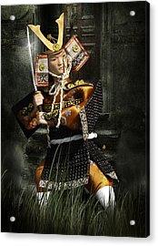 Japanese Samurai Doll Acrylic Print by Christine Till