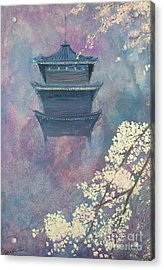 Japanese Spring Scene Acrylic Print by Lizzy Forrester