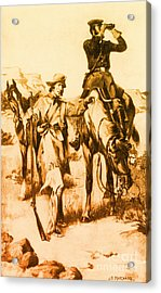 J.c. Fremont And His Guide, Kit Carson Acrylic Print by Photo Researchers