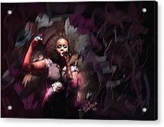 Jc Lady Sing Lady Sing Acrylic Print by Donald Pavlica