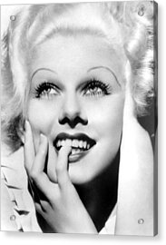 Jean Harlow, Mgm, Ca. Early 1930s Acrylic Print by Everett