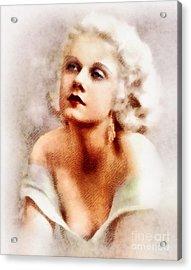 Jean Harlow, Vintage Actress By John Springfield Acrylic Print
