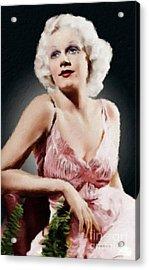 Jean Harlow Vintage Hollywood Actress Acrylic Print
