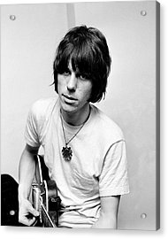 Jeff Beck 1966 Yardbirds Acrylic Print by Chris Walter
