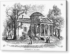 Jefferson: Monticello Acrylic Print by Granger