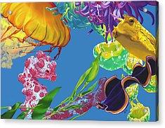 Jelly Undulations Acrylic Print by Jennifer Brewer Stone