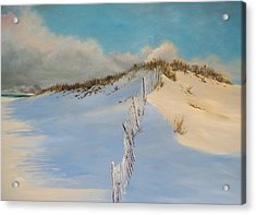 Acrylic Print featuring the painting Jersey Dunes by Ken Ahlering