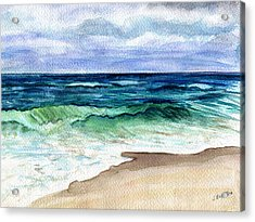 Acrylic Print featuring the painting Jersey Shore by Clara Sue Beym