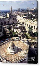 Jerusalem From The Tower Of David Museum Acrylic Print by Thomas R Fletcher