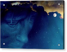 Jesus In The Night.. Acrylic Print by Al  Swasey