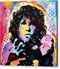 Acrylic Print featuring the painting Jim Morrison by Dean Russo
