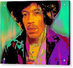 Jimi Hendrix Acrylic Print by John Keaton