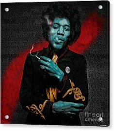 Jimi's Music Acrylic Print by ML Walker