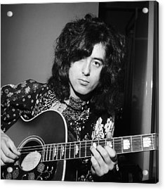 Jimmy Page 1970 Acrylic Print by Chris Walter