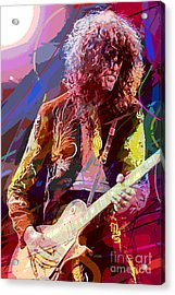Jimmy Page Les Paul Gibson Acrylic Print by David Lloyd Glover