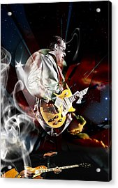 Joe Bonamassa Blue Guitarist Art Acrylic Print by Marvin Blaine
