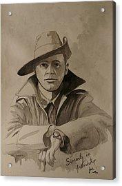 Acrylic Print featuring the painting Joe by Ray Agius