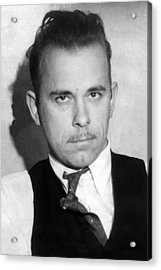 John Dillinger, Public Enemy No.1 Acrylic Print by Everett