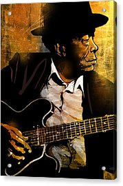 John Lee Hooker Acrylic Print by Paul Sachtleben