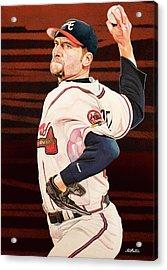John Smoltz - Atlanta Braves Acrylic Print by Michael Pattison