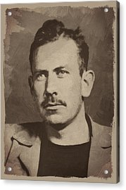 John Steinbeck Acrylic Print by Afterdarkness
