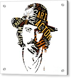 Johnny Depp Movie Titles Acrylic Print