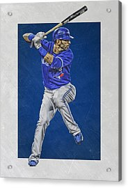 Jose Bautista Toronto Blue Jays Art Acrylic Print by Joe Hamilton