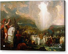 Joshua Passing The River Jordan With The Ark Of The Covenant Acrylic Print by Celestial Images