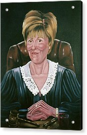 Acrylic Print featuring the painting Judge Judy by Susan Roberts