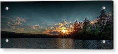 June Sunset On Nicks Lake Acrylic Print by David Patterson