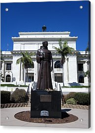 Acrylic Print featuring the photograph  Serra At City Hall by Mary Ellen Frazee