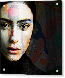 Acrylic Print featuring the mixed media Just Like A Woman by Paul Lovering