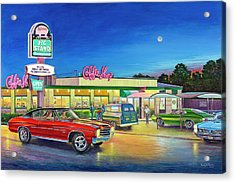 Muscle Car Cruise Night Acrylic Print