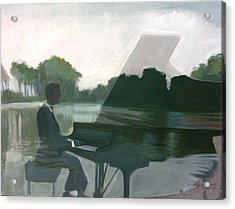 Justin Levitt Steinway Piano Spreckles Lake Acrylic Print