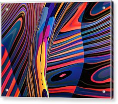 Kaleido-fa-callig. 10x11m37 Wide 11i Acrylic Print by Terry Anderson