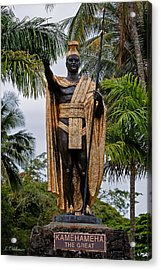 Kamehameha The Great Acrylic Print by Christopher Holmes