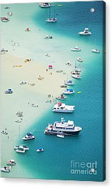 Kaneohe Bay, Boats Acrylic Print by Ron Dahlquist - Printscapes