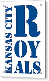 Kansas City Royals Typography Acrylic Print
