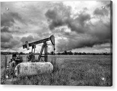 Kansas Oil Acrylic Print by JC Findley