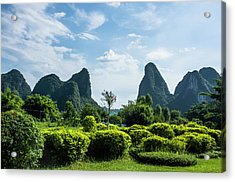 Karst Mountains Scenery Acrylic Print