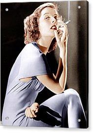 Katharine Hepburn, Ca. 1930s Acrylic Print by Everett