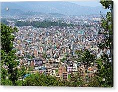 Kathmandu City In Nepal Acrylic Print