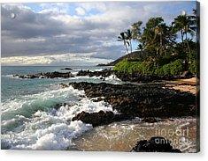 Ke Lei Mai La O Paako Oneloa Puu Olai Makena Maui Hawaii Acrylic Print by Sharon Mau
