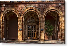 Kendall Hall Administration Building -  Cal State University Chico Acrylic Print by Mountain Dreams