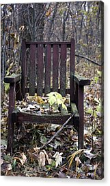 Keven's Chair Acrylic Print by Pat Purdy